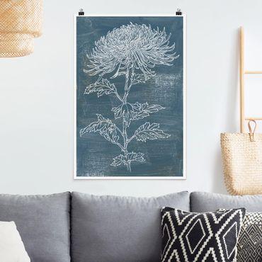 Poster - Indigo-Pflanzen II - Hochformat 3:2