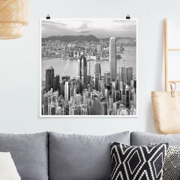 Poster - Skyline Nostalgia - Quadrat 1:1