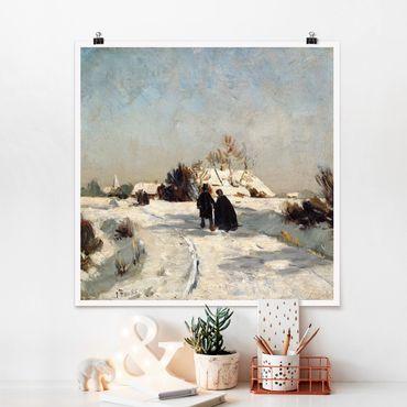 Poster - Otto Modersohn - Neujahrstag - Quadrat 1:1