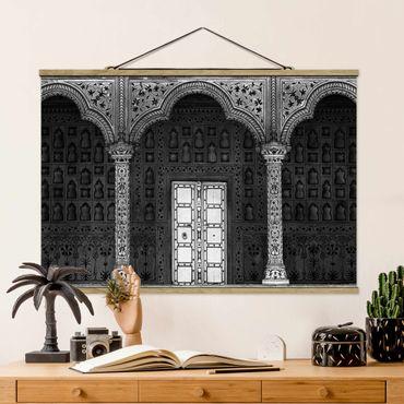 Stoffbild mit Posterleisten - White Door - Querformat 2:3