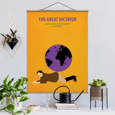 Stoffbild mit Posterleisten - Filmposter The great dictator - Hochformat 3:4