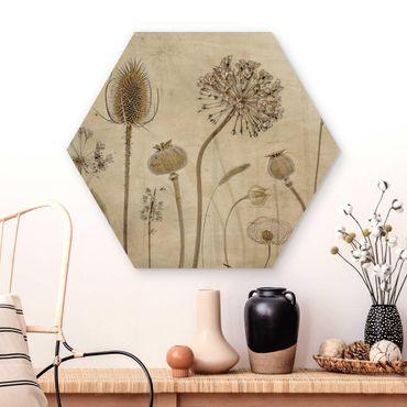 Hexagon Bild Holz - Growing Old