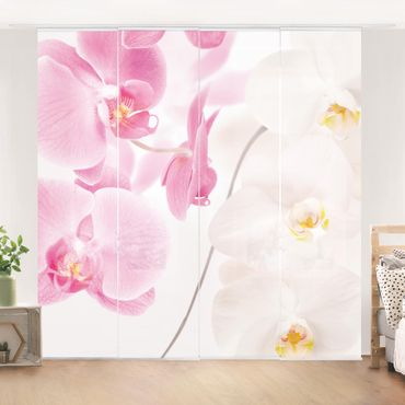 Schiebegardinen Set - Delicate Orchids - Flächenvorhänge