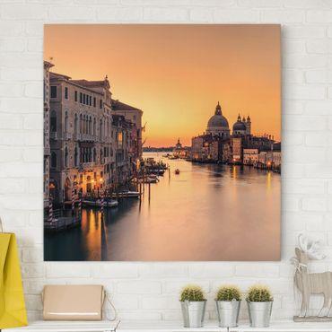 Leinwandbild - Goldenes Venedig - Quadrat 1:1