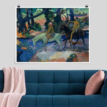 Poster - Paul Gauguin - Die Flucht - Querformat 3:4