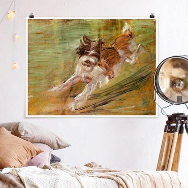 Poster - Franz Marc - Springender Hund - Querformat 3:4