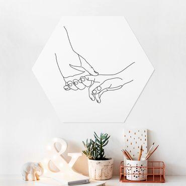 Hexagon Bild Forex - Zärtliche Hände Line Art