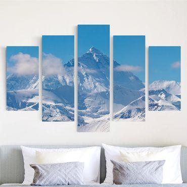Leinwandbild 5-teilig - Mount Everest