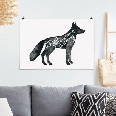 Poster - Tiere mit Weisheit - Fuchs - Querformat 2:3