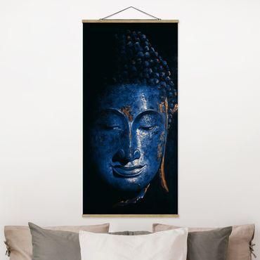 Stoffbild mit Posterleisten - Delhi Buddha - Hochformat 1:2