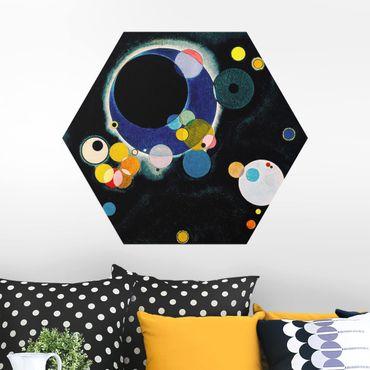 Hexagon Bild Alu-Dibond - Wassily Kandinsky - Skizze Kreise
