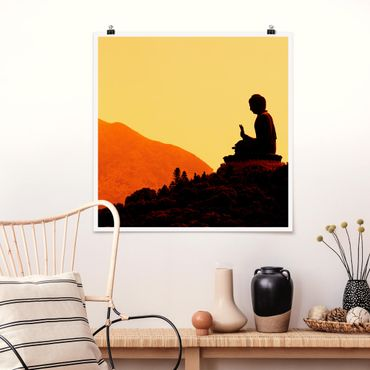 Poster - Resting Buddha - Quadrat 1:1