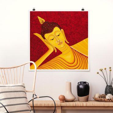 Poster - Taipei Buddha - Quadrat 1:1
