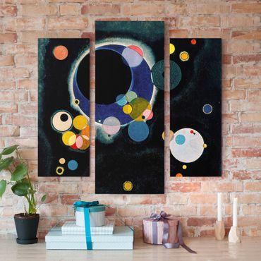 Leinwandbild 3-teilig - Wassily Kandinsky - Skizze für 'Einige Kreise' - Galerie Triptychon