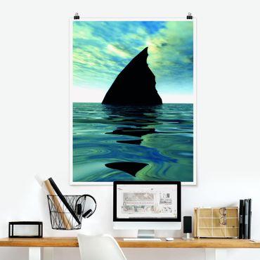 Poster - Shark Attack - Hochformat 3:4