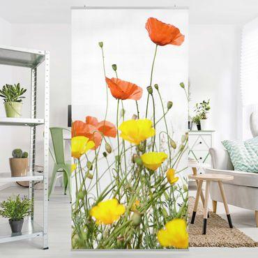 Raumteiler - Wild Flowers 250x120cm