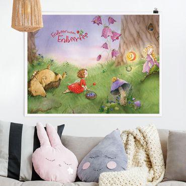 Poster - Erdbeerinchen Erdbeerfee - Im Wald - Querformat 3:4