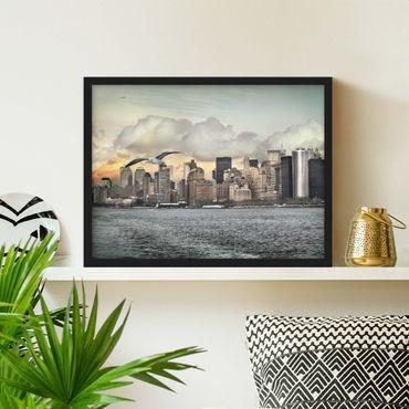 Bild mit Rahmen - No.YK1 New York - Querformat 3:4