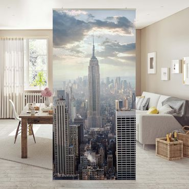 Raumteiler - Sonnenaufgang in New York 250x120cm