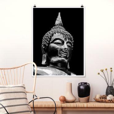 Poster - Buddha Statue Gesicht - Hochformat 4:3