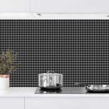 Küchenrückwand - Mosaikfliesen Schwarz Matt