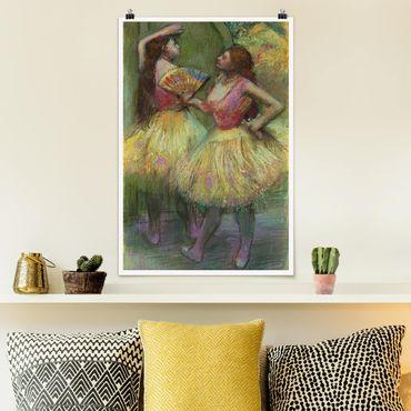 Poster - Edgar Degas - Zwei Tänzerinnen - Hochformat 3:2