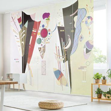 Schiebegardinen Set - Wassily Kandinsky - Wechselseitiger Gleichklang - Flächenvorhänge