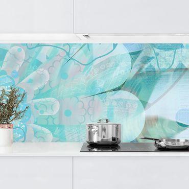 Küchenrückwand - Winterblumen