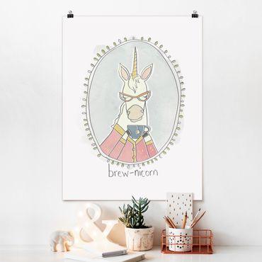 Poster - Koffeinhaltiges Einhorn - Hochformat 3:4