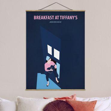 Stoffbild mit Posterleisten - Filmposter Breakfast at Tiffany´s - Hochformat 3:4