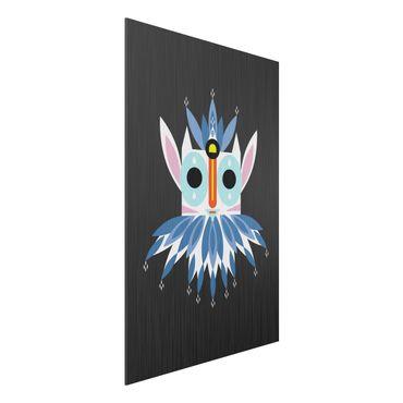 Aluminium Print gebürstet - Collage Ethno Maske - Gnom - Hochformat 3:2