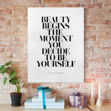 Leinwandbild - Be yourself Coco Chanel - Hochformat 4:3
