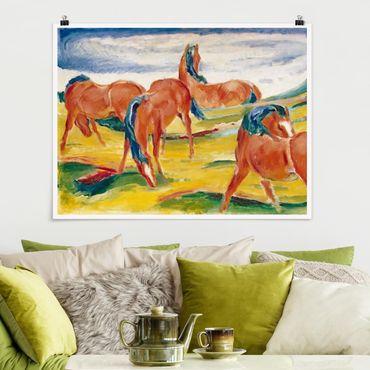 Poster - Franz Marc - Weidende Pferde - Querformat 3:4