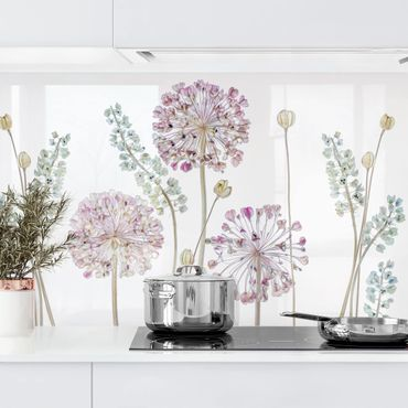 Küchenrückwand - Allium Illustration