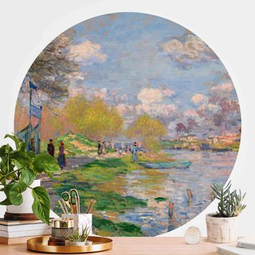 Runde Tapete selbstklebend - Claude Monet - Seine