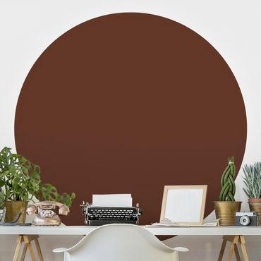Runde Tapete selbstklebend - Colour Chocolate