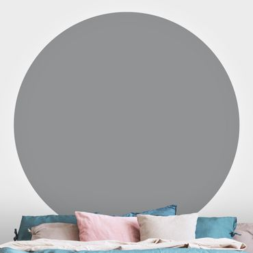 Runde Tapete selbstklebend - Colour Cool Grey
