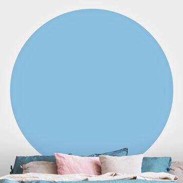 Runde Tapete selbstklebend - Colour Light Blue