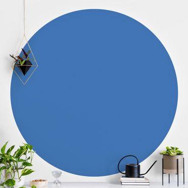 Runde Tapete selbstklebend - Colour Royal Blue