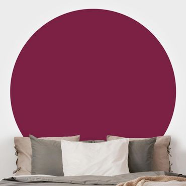 Runde Tapete selbstklebend - Colour Wine Red
