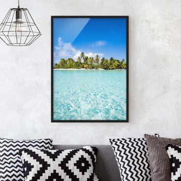 Bild mit Rahmen - Crystal Clear Water - Hochformat