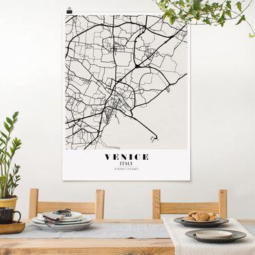 Poster - Stadtplan Venice - Klassik - Hochformat 3:4
