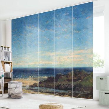 Schiebegardinen Set - Gustave Courbet - Blaues Meer - blauer Himmel - Flächenvorhänge