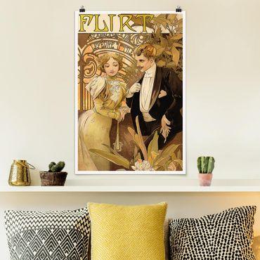 Poster - Alfons Mucha - Werbeplakat für Flirt Biscuits - Hochformat 3:2