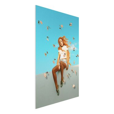 Forex Fine Art Print - Jonas Loose - Retro Venus - Hochformat 3:2