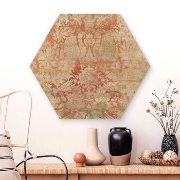 Hexagon Bild Holz - Ornamentgewebe II