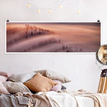 Poster - Nebelflut - Panorama Querformat