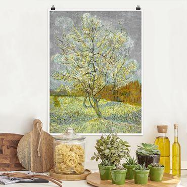 Poster - Vincent van Gogh - Pfirsichbaum rosa - Hochformat 3:4