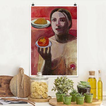 Poster - Paula Modersohn-Becker - Halbakt einer Italienerin - Hochformat 3:2