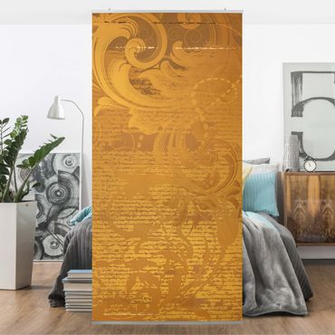 Raumteiler - Goldener Barock 250x120cm